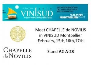 CHAPELLE de NOVILIS à VINISUD Montpellier 2016