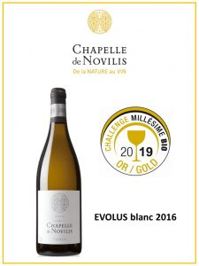Medaille d'Or au challenge du plus grand salon de vins bio au monde