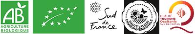 Labels : Agriculture - Viticulture biologique, Haute Valeur Environnementale (HVE) et Qualité Tourisme Occitanie Sud de France
